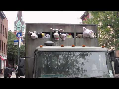 "Banksy Unveils ""Meat Truck"" Illustration"