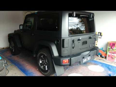 Matte black jeep 2 door фото