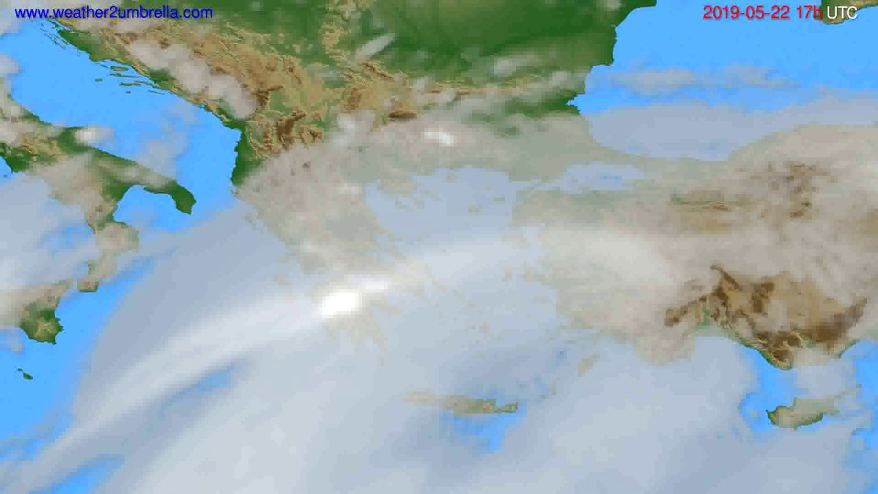Cloud forecast Greece // modelrun: 00h UTC 2019-05-21