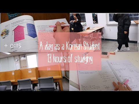 13 HOURS OF STUDYING?!?! A Day As A Korean High School Student