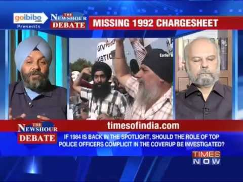 Sikh - In a debate moderated by TIMES NOW's Editor-in-Chief Arnab Goswami, panelists -- Naresh Gujral, MP Rajya Sabha, SAD; Manjit Singh GK, Leader & President, SAD...