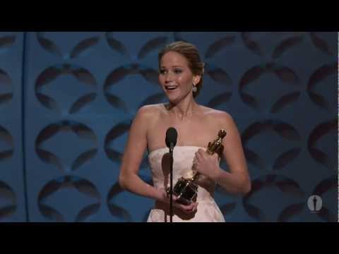 Jennifer Lawrence winning Best Actress