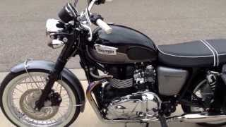6. 2012 triumph Bonneville T100 with bc sleepers