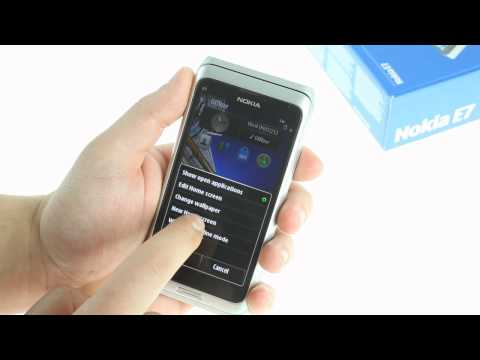 Nokia E7 hands-on video