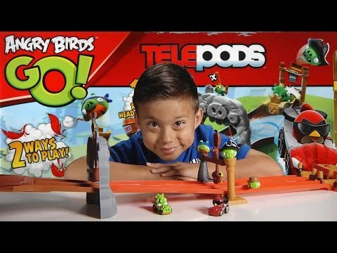 ANGRY BIRDS GO! Pig Rock Raceway – TELEPODS Unboxing, Review & Demo!