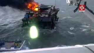 No Azerbaijão, foram recuperados os corpos de sete trabalhadores dados como desaparecidos durante um incêndio numa plataforma petrolífera, no mar ...
