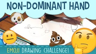 Drawing Emojis With Non Dominant HandWe're drawing emojis today! But there's a catch; we're drawing emojis with our non dominant hand : For starters, drawing emojis is just a blast in general. Our emoji drawing process also included coloring the emojis with copic sketch markers. This emoji drawing non dominant hand art challenge is fun to try with friends, and we'd love to try it again, so thumbs up if you like the video and let us know if you want us to try drawing emojis again!Take a vote! Who won the non dominant hand drawing challenge? Honestly...I think Justin's emoji drawing was better! I was a hot mess. Give it a shot! Try drawing emojis with your non dominant hand, then share your masterpiece with me using the hashtag #pigknit on social media! Make sure to tag me @pigknit so I see it! Subscribe to peer into a day in the life of a freelance illustrator, and share if you care! :)Last Video: https://www.youtube.com/watch?v=5V2zegwp6fgShop here: https://www.etsy.com/your/shops/pigknit/tools/listings/section:19896210------------------------------------------------------------------------------------------Art Materials Used in This Video: Paper: https://www.amazon.com/gp/product/B000J0C47S/ref=as_li_tl?ie=UTF8&camp=1789&creative=9325&creativeASIN=B000J0C47S&linkCode=as2&tag=pigknit-20&linkId=e4cd035a0224c1a0446c2703e983d794Gelly Roll gel pen in white: https://www.amazon.com/gp/product/B00CF5R57Y/ref=as_li_tl?ie=UTF8&camp=1789&creative=9325&creativeASIN=B00CF5R57Y&linkCode=as2&tag=pigknit-20&linkId=0ea5af48bd3ed91854950efe9a964c92Copic Sketch Markers: https://www.amazon.com/gp/product/B004XR96UG/ref=as_li_tl?ie=UTF8&camp=1789&creative=9325&creativeASIN=B004XR96UG&linkCode=as2&tag=pigknit-20&linkId=d65f72e9da5996590b23d41dce33b06aMicron Pen: https://www.amazon.com/gp/product/B000XAL0O2/ref=as_li_tl?ie=UTF8&camp=1789&creative=9325&creativeASIN=B000XAL0O2&linkCode=as2&tag=pigknit-20&linkId=9bafe03ef272c80628dff55b66608042------------------------------------------------------------------------------------------Filming Equipment Used:Canon Powershot S110: https://www.amazon.com/gp/product/B009B0MYSQ/ref=as_li_tl?ie=UTF8&camp=1789&creative=9325&creativeASIN=B009B0MYSQ&linkCode=as2&tag=pigknit-20&linkId=61eb3228c57da1bd4d00fcc98809a720Manfrotto Mini Tripod: https://www.amazon.com/gp/product/B00GUND8XM/ref=as_li_tl?ie=UTF8&camp=1789&creative=9325&creativeASIN=B00GUND8XM&linkCode=as2&tag=pigknit-20&linkId=0606a7ba650f0ff2862dc287e3459864OttLite Task Lamp: https://www.amazon.com/gp/product/B004Q0CUXA/ref=as_li_tl?ie=UTF8&camp=1789&creative=9325&creativeASIN=B004Q0CUXA&linkCode=as2&tag=pigknit-20&linkId=8a48246dca0974ec6a6a5c02ae22acc8------------------------------------------------------------------------------------------Background Music: https://soundcloud.com/kevin-9-1/lobby-time------------------------------------------------------------------------------------------Etsy:  https://www.etsy.com/shop/pigknitwww.pigknit.comFacebook: https://www.facebook.com/pigknit/Twitter: https://twitter.com/pigknitTumblr: https://www.tumblr.com/blog/pigknitInstagram: @pigknitSnapchat: PigknitThanks for watching!