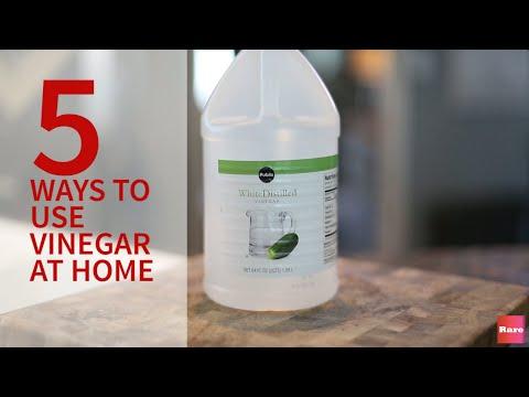 i 5 modi alternativi di utilizzare l'aceto in casa!