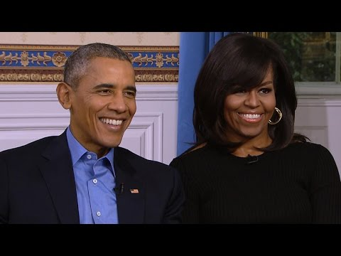 President and Mrs. Obama on last Superbowl in the White House.
