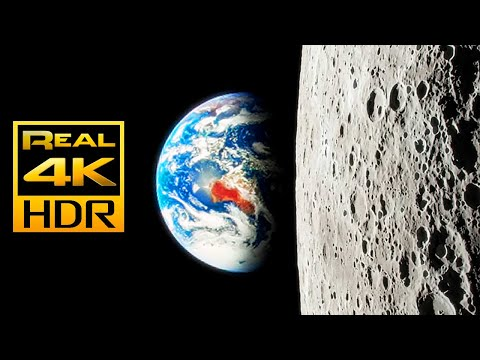 Amazing Views of the Moon in 4K HDR 🌕🌓🌒 OLED Perfect Black Test in HDR