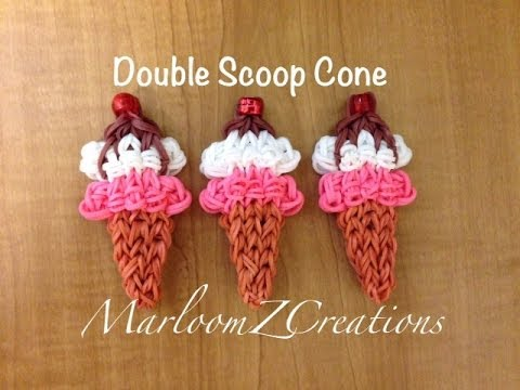 Rainbow Loom Ice Cream Cone – Nederlands IJsje met bolletje