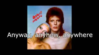 """Anyway, Anyhow, Anywhere (1973) David Bowie From the album """"Pin Ups"""" (1973)"""