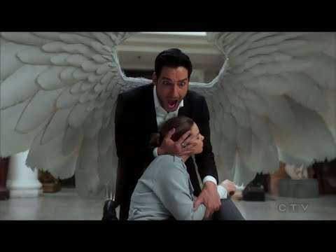 LUCIFER SEASON FINALE - LUCIFER SAVES CHLOE WITH HIS WINGS (видео)