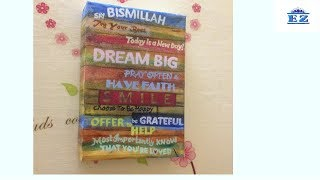 DIY FAMILY RULES WALL ART | Best Out Of Waste | Reuse Saree Box I EZ SuperCraft