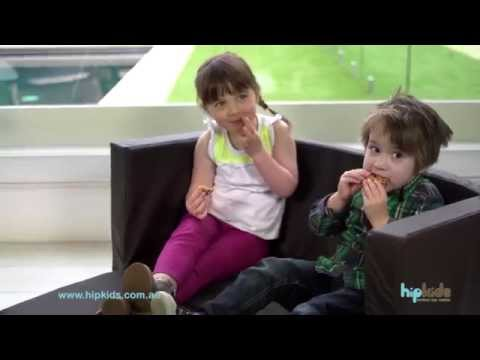 Kids 2 Seater Flip Out Sofa chairs By Hip Kids