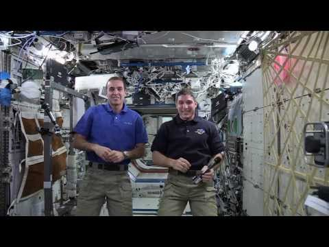 international - NASA Astronauts Mike Hopkins and Rick Mastraccio deliver a message from the International Space Station to participants in the Dec. 9, 2013 Hour of Code.