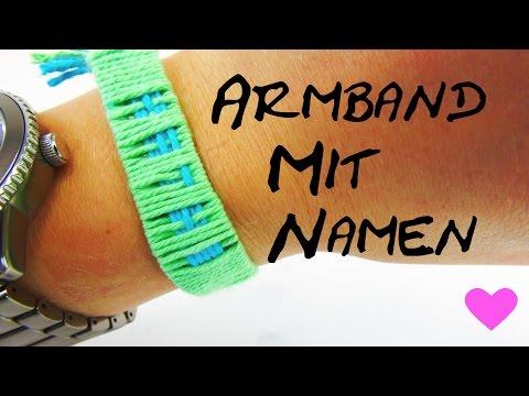 Armband mit Namen selber machen DIY Anleitung How To make name bracelets