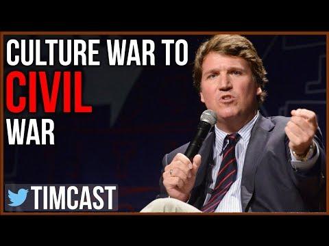 Tucker Carlson Shows Culture War Escalating To Civil War