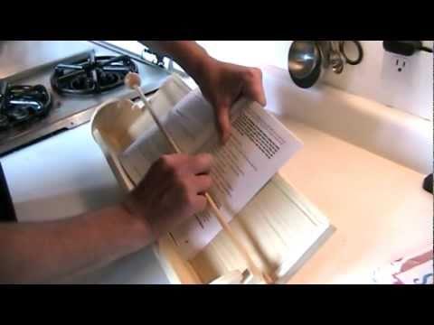 Make a cookbook stand