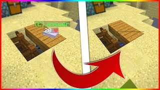 NEW VIRAL INVISIBLE GHOST BLOCK TROLL! | Minecraft SKYWARS TROLLING!