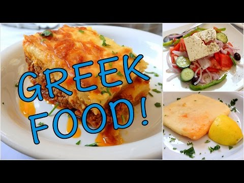 Eating our favorite Greek food in Athens, Greece