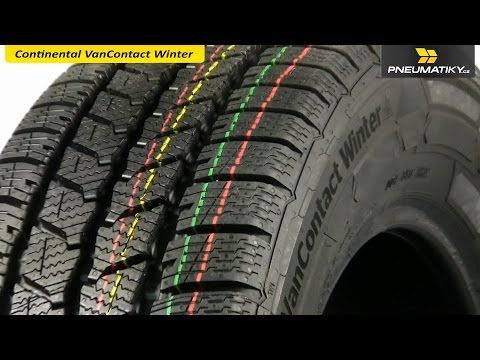 Youtube Continental VanContact Winter 185/75 R16 C 104/102 R 8pr Zimní