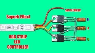 Superb Effect RGB Strip LED Controller Circuit