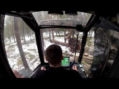 Valmet 911.3 Waratah H 414 (видео)