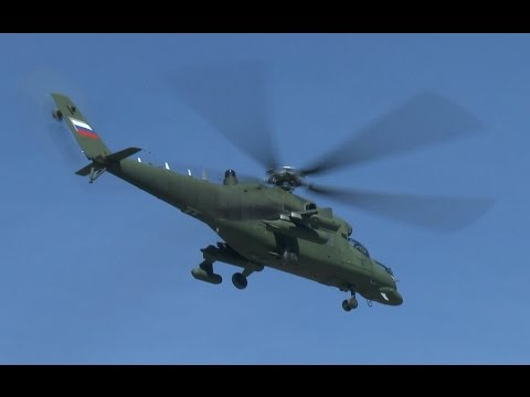 Загадочный Ми-35МС попал на видео около Кремля