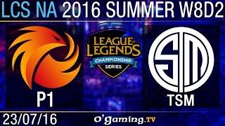 Phoenix1 vs TSM - LCS NA Summer Split 2016 - W8D2