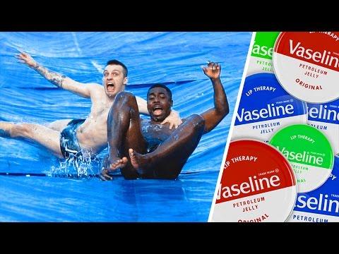 INSANE DOWNHILL VASELINE SLIP N SLIDE!! (SLIPPIEST EVER)