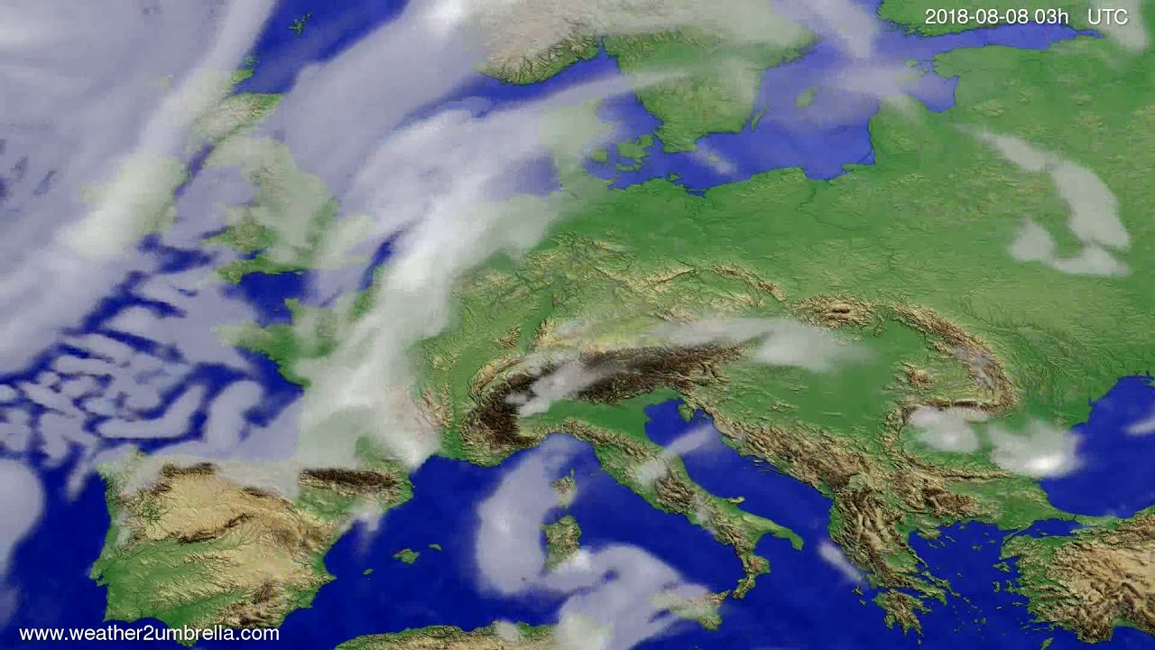 Cloud forecast Europe 2018-08-05