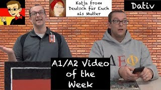 Learn all about the German dative case with this entertaining skit by Herr Antrim with Katja from Deutsch für Euch as a special guest star. Check out Katja's...