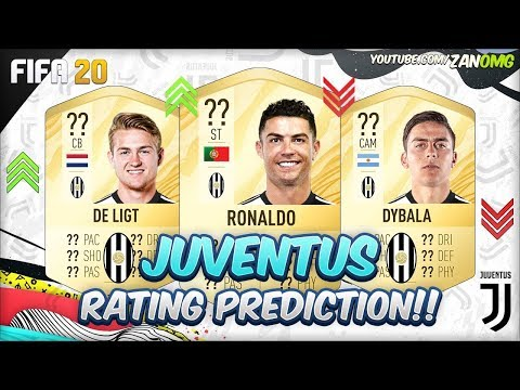 FIFA 20 | JUVENTUS PLAYERS RATING PREDICTION!! | FT. RONALDO, DE LIGT, DYBALA...