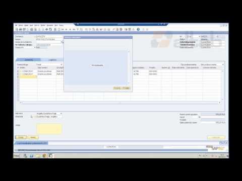 SAP Business One - powtarzalne zamówienia zakupu