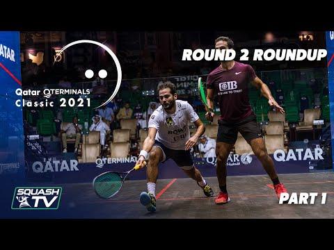 Squash: Qatar QTerminals Classic 2021 - Round 2 Roundup [Pt.1]