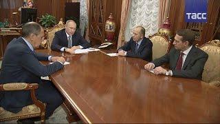 Владимир Путин провел совещание с Сергеем Лавровым, Сергеем Нарышкиным и Александром Бортниковым