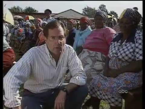 South Africa's First Free Elections 1994 - older voters vote for Mandela