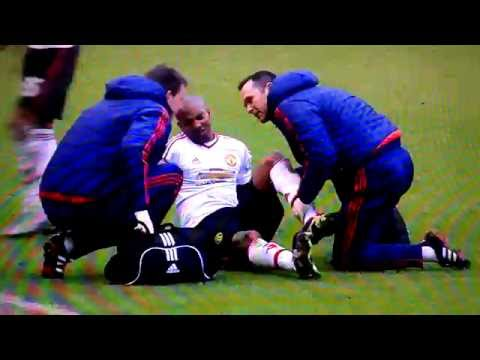 Young Injury Vs Liverpool F.C. 1/17/16