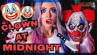 """Clown at Midnight is a scary story about a man who hires a clown for his son's Birthday party..SCARY CLOWN STORIES:https://www.youtube.com/playlist?list=PLTeey94nbDs4a0aEKzRnGVlg_TxLvByp4#TeamBrittyy44#BRITHERINSEVA HAIR LINKS:WEBSITE: www.evahair.comHARLEY QUINN WIG: http://www.evahair.com/382-harley-quinn-inspired-hair-color-half-blue-half-pink-synthetic-lace-front-wig.htmlINSTAGRAM: https://www.instagram.com/evahairofficial/FACEBOOK: https://www.facebook.com/evahairworldwide YOUTUBE: https://www.youtube.com/channel/UCZBn5TCK_YhTXAVf_5IKgyA SUBSCRIBE! New videos every Monday, Wednesday and Friday!FOLLOW ME!http://facebook.com/Brittyy44http://twitter.com/Brittyy44http://instagram.com/Brittyy44Music: Kevin Macleodhttp://incompetech.com""""Bump in The Night""""""""Ice Demon""""""""Medusa""""""""Myst on the Moor""""""""Ghost Story"""""""