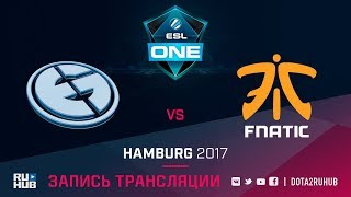 Evil Geniuses vs Fnatic, ESL One Hamburg, game 1 [Maelstorm, v1lat]
