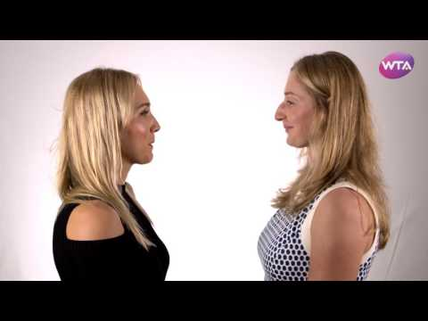 2016 WTA Finals Singapore Doubles Partners Staring Contest