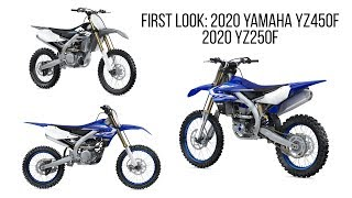 8. First Look: 2020 Yamaha YZ450F and YZ250F - New Cylinder Head, Frame Updates, and More...