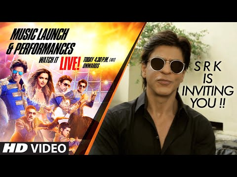 Shah Rukh Khan is INVITING You !!!!! Happy New Year...