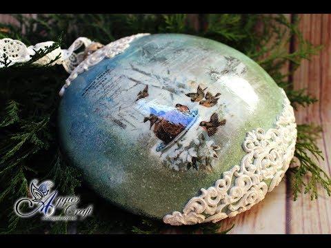 decoupage - medaglione decorato in tema natalizio
