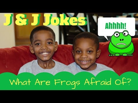 J&J Jokes for Kids:  What Are Frogs Afraid Of?