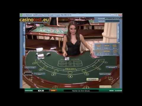 Euro Live Dealer Baccarat Video
