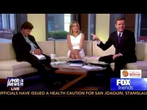 carlson - 8/31/2013 VIDEO: Tucker Carlson Falls Asleep on Fox & Friends, After hosting a late night show on Fox, Tucker Carlson fell asleep on air during his morning h...