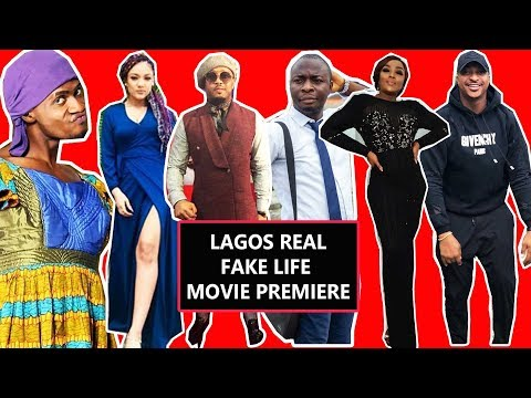 LAGOS REAL FAKE LIFE MOVIE PREMIERE and AUDIENCE REVIEW.