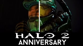 Halo 2 vs Halo 2 Anniversary Cinematics Comparison (Halo Master Chief Collection)